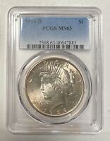 PEACE SILVER DOLLAR 1926 D PCGS MINT STATE 63