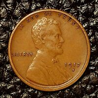 ITM-2984 1917-S LINCOLN CENT  EXTRA FINE  CNDTN  $20 ORDER SHIP FREE