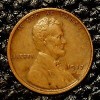 ITM-3095 1917-S LINCOLN CENT  EXTRA FINE  CNDTN  $20 ORDER SHIP FREE