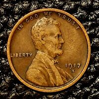 ITM-3097 1917-S LINCOLN CENT  EXTRA FINE  CNDTN  $20 ORDER SHIP FREE