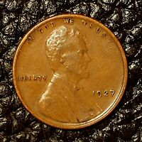 ITM-2995 1927-P LINCOLN CENT  AU CNDTN  $20 ORDERS SHIP FREE