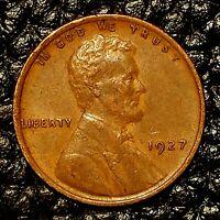 ITM-2997 1927-P LINCOLN CENT  AU CNDTN  $20 ORDERS SHIP FREE