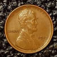 ITM-2980 1917-S LINCOLN CENT  AU CNDTN  $20 ORDERS SHIP FREE