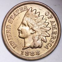 XF 1888 INDIAN HEAD CENT PENNY