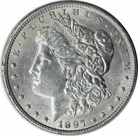1897 MORGAN SILVER DOLLAR AU UNCERTIFIED