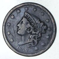 1838 YOUNG HEAD LARGE CENT - CIRCULATED 9261
