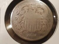 1865 TWO CENT PIECE AG
