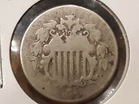 1867 SHIELD NICKEL SEE PICS