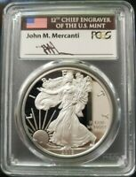 2018 W PCGS PROOF PR70 DCAM FDOI MERCANTI LABEL SILVER EAGLE POP 143 WASHINGTON