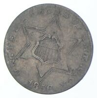 SILVER TRIME 1856 THREE CENT SILVER 3 CENT EARLY US COIN LO