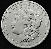 1891-O MORGAN SILVER DOLLAR.  BETTER GRADE.  88543  INV. B