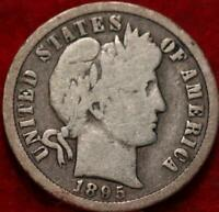 1895 O NEW ORLEANS MINT SILVER BARBER DIME