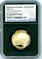 2020 S $1 CT VARIABLE SCALE NGC PF70 PROOF INNOVATION DOLLAR