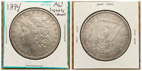 1894 P MORGAN SILVER DOLLAR $1 COIN    AU DETAILS   CLEANED