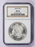 1879 S NGC MINT STATE 64 MORGAN SILVER DOLLAR ITEMJ6780