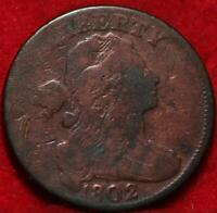 1802 PHILADELPHIA MINT COPPER DRAPED BUST LARGE CENT