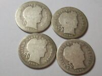 1893 S 1899 S 1902 S 1898 S 4 DIFF LOW MINT EARLY BARBER LIB