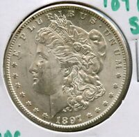 1897-S MORGAN SILVER DOLLAR COIN $1 SAN FRANCISCO MINT UNC UNCIRCULATED - JJ822
