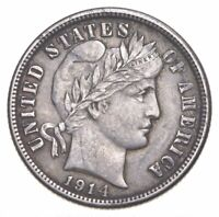 BETTER 1914   US BARBER LIBERTY SILVER DIME COIN COLLECTION