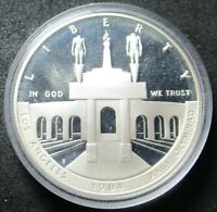 1984 S PROOF LOS ANGELES OLYMPIAD COLISEUM SILVER DOLLAR COI