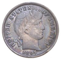 BETTER 1897   US BARBER LIBERTY SILVER DIME COIN COLLECTION