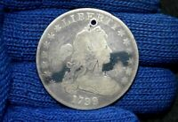 1799 SILVER DOLLAR DRAPED BUST FINE HOLE GET 5 OFF AT CHECKOUT OR MAKE OFFER