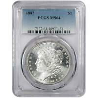1882 MORGAN DOLLAR MINT STATE 64 PCGS 90 SILVER $1 US COIN COLLECTIBLE