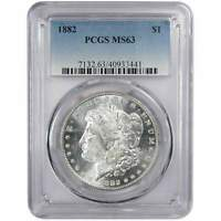 1882 MORGAN DOLLAR MINT STATE 63 PCGS 90 SILVER $1 US COIN COLLECTIBLE