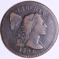 1795 FLOWING HAIR LARGE CENT CHOICE FINE BEAUTIFUL SHIPS FREE E502 ABTX