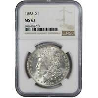 1893 MORGAN DOLLAR MINT STATE 62 PCGS 90 SILVER $1 US COIN COLLECTIBLE