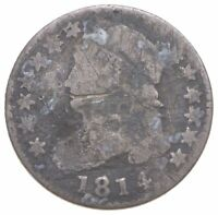 EARLY   1814   CAPPED BUST DIME   EAGLE REVERSE   TOUGH   US TYPE COIN  196