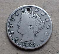 1885 LIBERTY V NICKEL LOW MINTAGE THE KEY DATE OF SERIES FIN