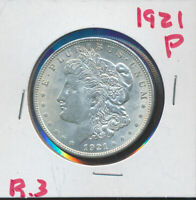 MORGAN SILVER DOLLAR -  LUSTEROUS UNC 1921-P - 100 YEARS OLD R-3