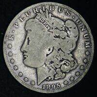 1895-O MORGAN SILVER DOLLAR CHOICE VG  E393 WCNM