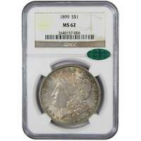 1899 MORGAN DOLLAR MINT STATE 62 NGC CAC 90 SILVER $1 US COIN COLLECTIBLE