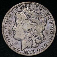 1893-O MORGAN SILVER DOLLAR CHOICE FINE E960 ACFG