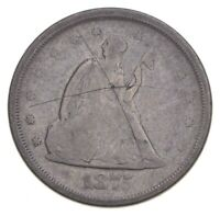 1875 S SEATED LIBERTY TWENTY CENTS   CHARLES COIN COLLECTION  360
