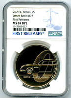 2020 GREAT BRITAIN 5PND JAMES BOND 007 NGC MS69 DPL FIRST RE