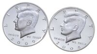 2009 S & 2004 S GEM DEEP CAMEO PROOF KENNEDY HALF DOLLAR 90