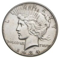 BETTER   1934   PEACE SILVER DOLLAR   90  US COIN  567
