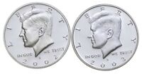 2002 S & 2003 S GEM DEEP CAMEO PROOF KENNEDY HALF DOLLAR 90