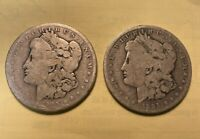 TWO 2 1895-O MORGAN DOLLAR BIN - BARGAIN 1 BID GETS BOTH COINS