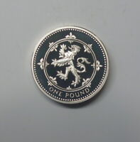 GREAT BRITAIN :  SILVER PROOF  PIEDFORT ONE POUND 1994. WELS