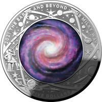 2021 THE EARTH AND BEYOND   MILKY WAY   COLOURED DOMED 1OZ S