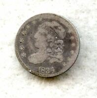 1834  CAPPED BUST  HALF DIME  G