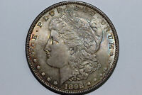1898-P MORGAN 90 SILVER DOLLAR LY TONED GRADES MINT STATE MDX4309