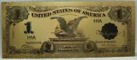 1899 BLACK EAGLE $1 SILVER CERTIFICATE NOVELTY 24K GOLD PLATED NOTE 6
