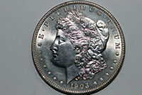 1903-P MORGAN 90 SILVER DOLLAR BETTER DATE CLEANED GRADES MINT STATE DEAN212