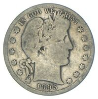 BETTER 1895 S   US BARBER 90  SILVER HALF DOLLAR COIN COLLEC