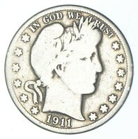 BETTER 1911   US BARBER 90  SILVER HALF DOLLAR COIN COLLECTI